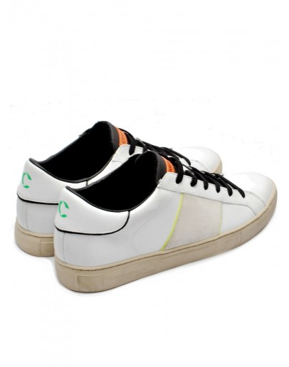 CRIME LONDON SNEAKER LOW TOP ESSENTIAL BIANCO 11558