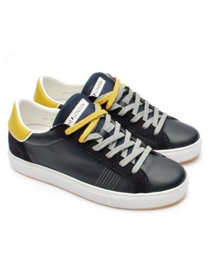 CRIME LONDON SNEAKER LOW TOP ESSENTIAL BLU 11582